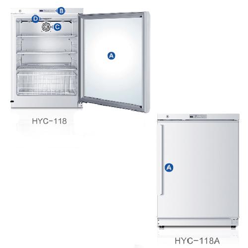 海尔2-8度医用冷藏箱HYC-118/118A